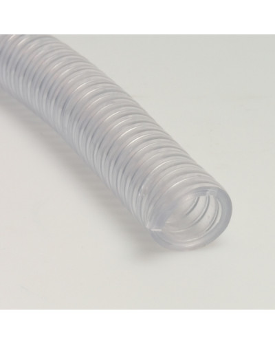 Furtun transparent din PVC/spira din otel 40mm x 30m