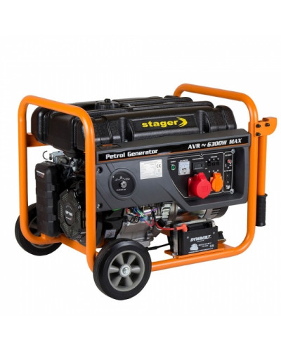 Generator open frame Stager GG 7300-3EW benzina 8.5CP 6.3kW