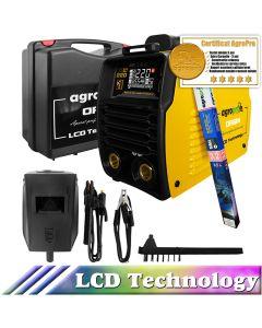 Aparat pentru sudura profesional AgroPro Origin 220 LCD inverter 220A Limited Edition MMA + TIG/WIG Functie VRD Tehnologie IGBT + Cutie transport + 3 ani Garantie