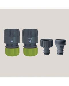 """Set 4 conectori - plastic 12-15 mm x 1/2"""""""