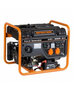 Generator curent Stager GG 3400E motor benzina 7cp tip AVR putere continua 2600W