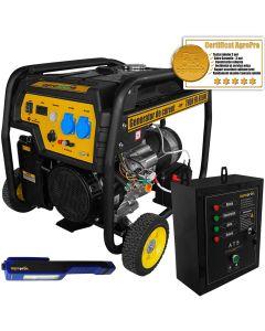 Generator curent Profesional AgroPro THOR FD 6500E 5.5 KW Automatizat motor 13 CP AVR automat pornire la cheie + Cadou Lanterna LED magnetica AgroPro