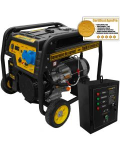 Generator curent Profesional AgroPro THOR FD 6500E 5.5 KW Automatizat motor 13 CP AVR automat pornire la cheie + Cadou Lanterna LED magnetica AgroPro