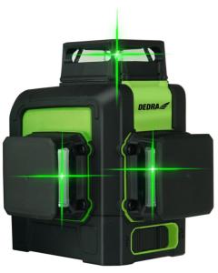 Nivel cu multilaser 3D Dedra MC0904 tip cruce acumulator Li-Ion 5200 mAh fascicul laser verde lungime lucru 45 m