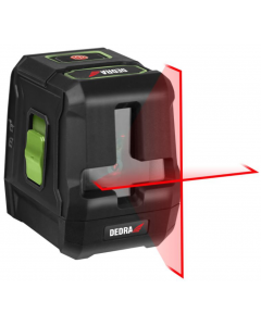 Nivel cu laser Dedra MC0901 acumulatori 2xAA laser rosu linii 2 lungime lucru 20 m unghi linie 120grd