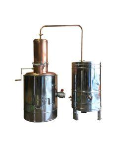 Cazan Tuica 100 Litri Profesional, Focar +Racitor Inox, Amestecator