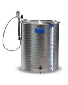 Cisterna inox cu capac flotant cu garnitura Marchisio SPA1000 1000l diametru 1000mm