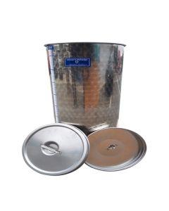 Cisterna inox Marchisio cu capac flotant cu ulei de parafina 400L diametru 650mm inaltime 1300mm