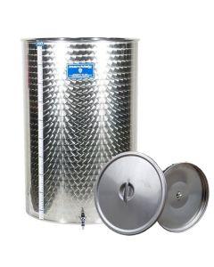 Cisterna inox Marchisio cu capac flotant cu ulei de parafina 50 L diametru 384mm inaltime 500mm