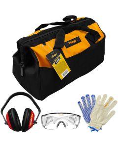 Geanta scule Villager Jobsite 4006 material textil 40 cm antifoane ochelari manusi protectie AgroPro