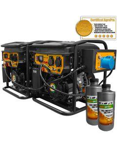 Panou conexiune paralela 2 generatore Invertor profesionale AgroPro SMART IG 3600, putere 5.5 KVA, AVR, motor 7CP, benzina, monofazat, 2l ulei motor AgroPro
