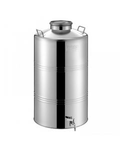 Bidon inox MetalBox 50 L cu capac Airtight Ø 180 mm