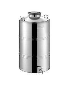 Bidon inox MetalBox 125 L cu capac Airtight Ø 180 mm