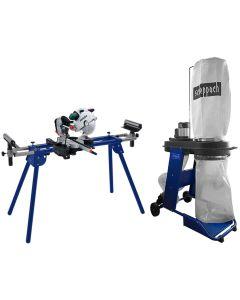Fierastrau debitat Metabo KGS 315 PLUS suport UMF1600 aspirator HD 12