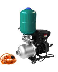 Pompa de apa ProGARDEN VFWF-16s putere 1.1 kW presiune 8 bar vas 5 litri controler VFD compact monofazat LED prelungitor 10m AgroPro