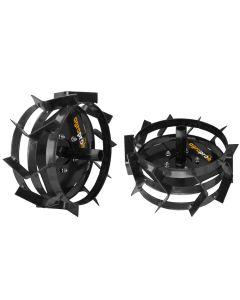Set Roti metalice AgroPro 40 cm manicot hexagon mare 32mm
