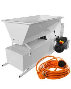 Zdrobitor desciorchinator electric ENO 15 Smalto 1800kg/h tambur inox + Cadou prelungitor 10m AgroPro Fabricat in Italia