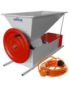Zdrobitor si desciorchinator struguri Profesional ENOITALIA ENO 3 Smalto manual max 1200 kg/h role aluminiu tambur inox + Cadou prelungitor 10m AgroPro