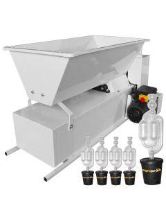 Zdrobitor desciorchinator electric ENO 15 Smalto 1800kg/h tambur inox + Cadou 5 buc. Dop cu serpentina 25-50 L 50/35X55 AgroPro Fabricat in Italia