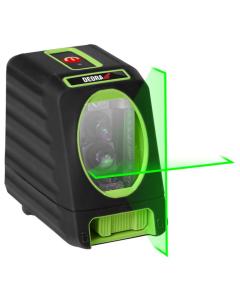 Nivel cu laser Dedra MC0903 tip cruce acumulatori 4xAA fascicul laser verde lungime lucru 30 m unghi linie orizontala 150grd