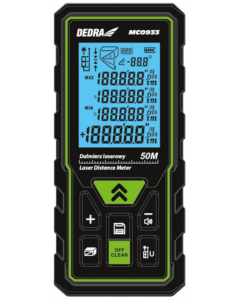 Telemetru laser Dedra MC0933 raza masurare 50 m puncte de referinta 2 acumulatori 2x AAA