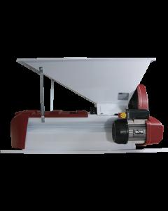 Zdrobitor separator fructe samburoase 2 grile separatoare vopsea emailata cuva 900x500cm 220V 1CP 500kg/ora