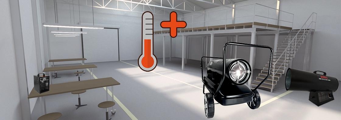 Aeroterme de caldura-Solutia pentru incalzirea spatiilor industriale